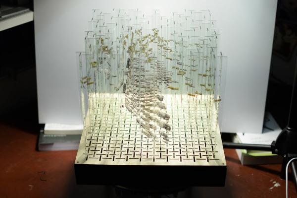 glaskunst projekt moderne kunst glas