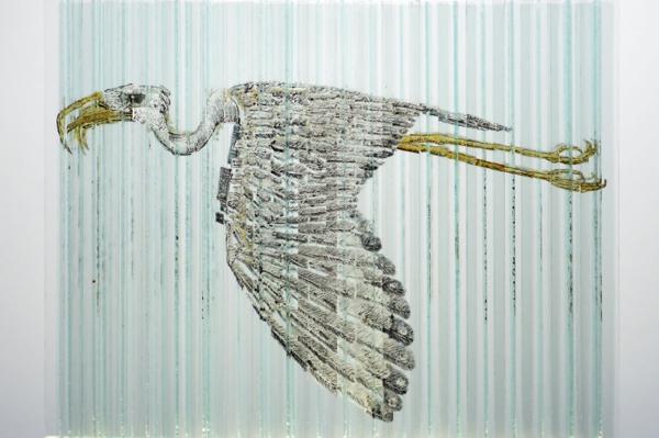 glaskunst vogel skulptur glas
