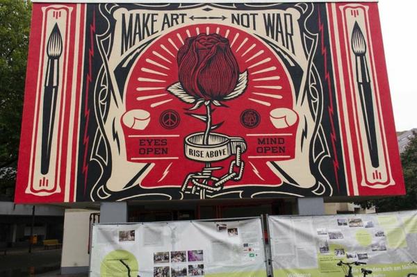 graffiti kunst berlin deutschland politisch