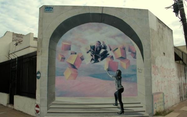 kunst graffiti buenos aires dreidimensional