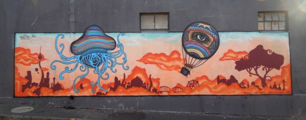 kunst graffiti kapstadt südafrika landschaft
