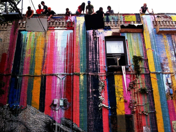 graffiti bilder new york bunte streifen