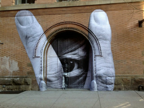 graffiti bilder new york finger auge