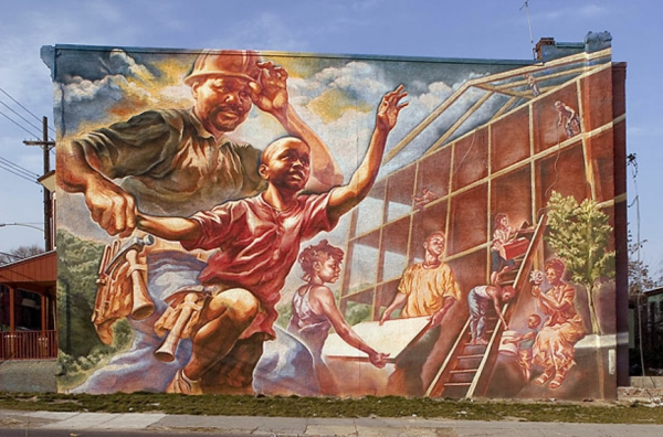 graffiti kunst philadelphia usa arbeiter