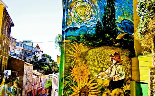 kunst graffiti valparaiso chile van gogh
