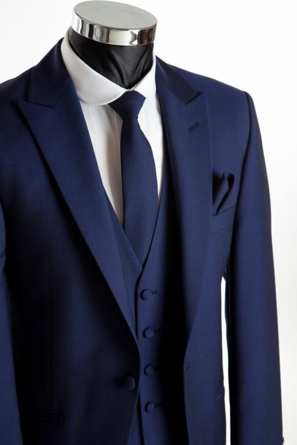 hochzeitsanzug herren blau elegant anzüge bräutigam