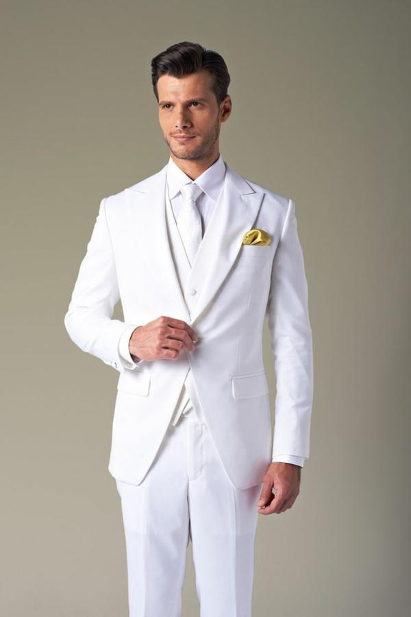 hochzeitsanzug herren komplett in weiß elegant anzüge bräutigam