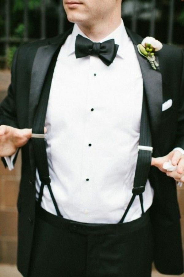 hochzeitsanzug herren retro fliege hosenträger anzüge bräutigam