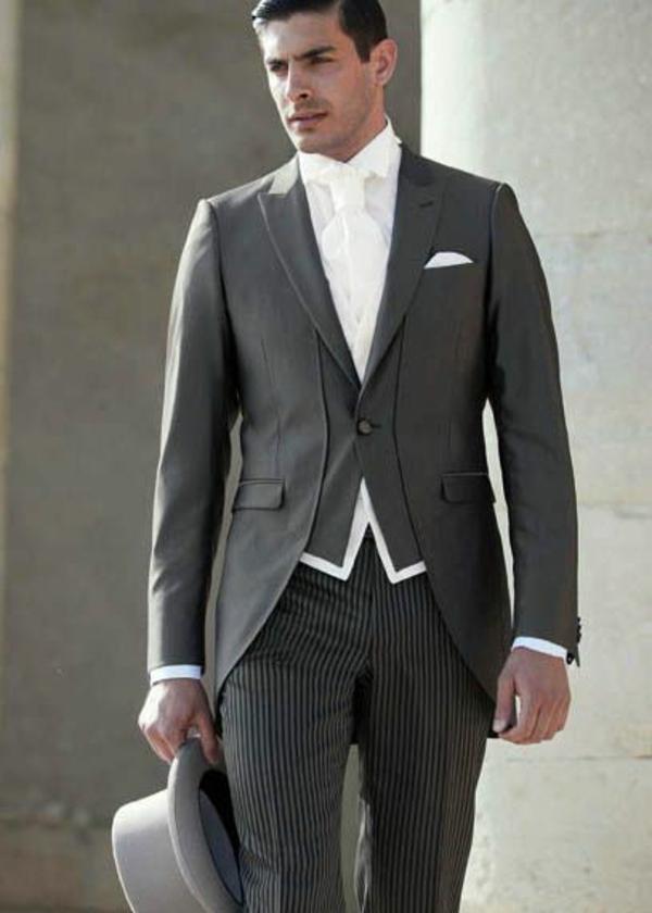 hochzeitsanzug herren retro grau anzug bräutigam