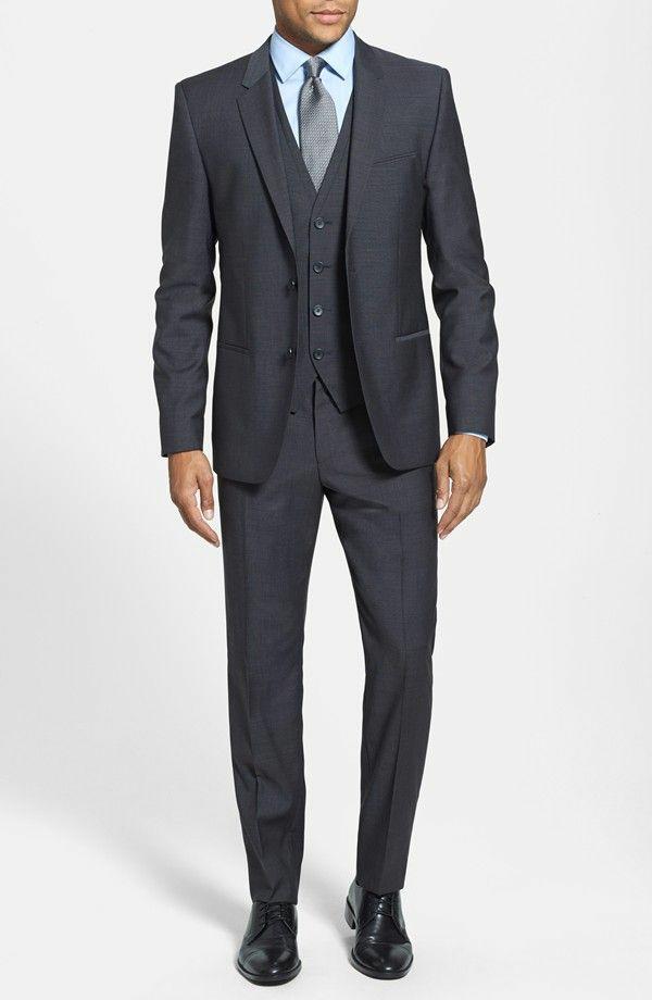 hochzeitsanzug herren schwarze elegant anzug bräutigam