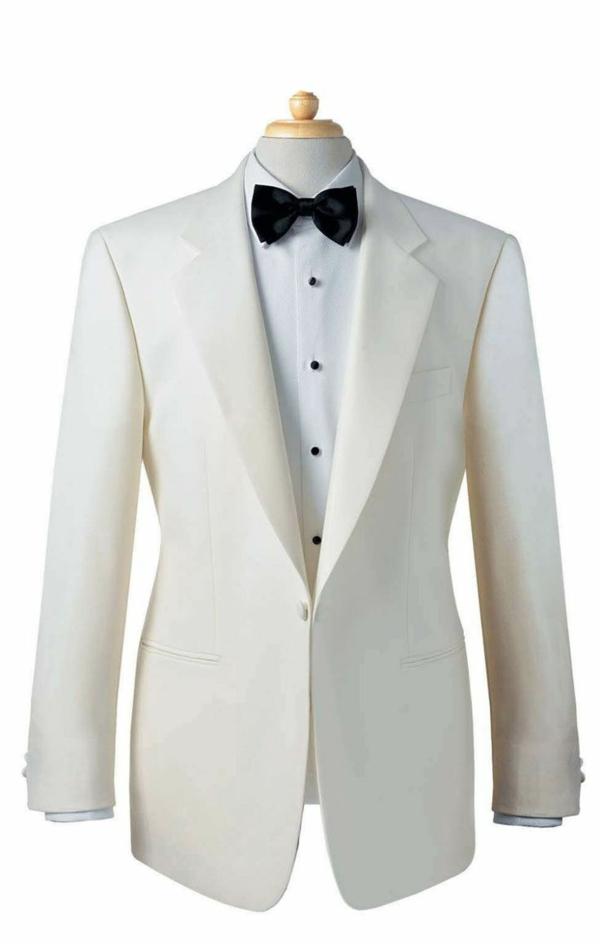 hochzeitsanzug herren weiß schwarze fliege elegant anzüge bräutigam