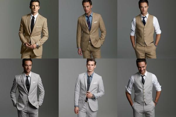 hochzeitsmode herren anzüge bräutigam in grau oder beige