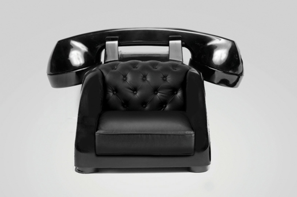 hohe absätze sessel retro telefon