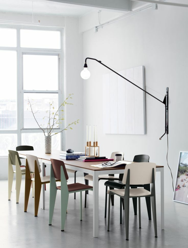 innendesign ideen möbel esszimmerstühle pastellfarben