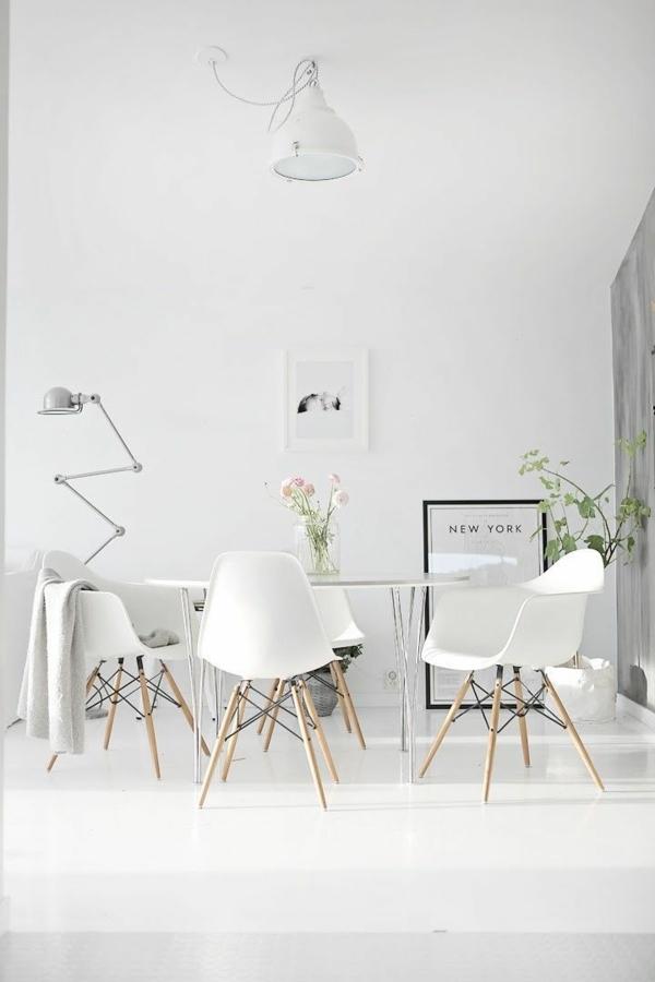 innendesign ideen skandinavisch einrichten esszimmertisch mit stühlen