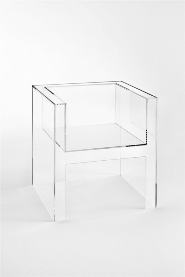 innendesign ideen transparente möbel Invisibles Light Tokujin Yoshioka Kartell