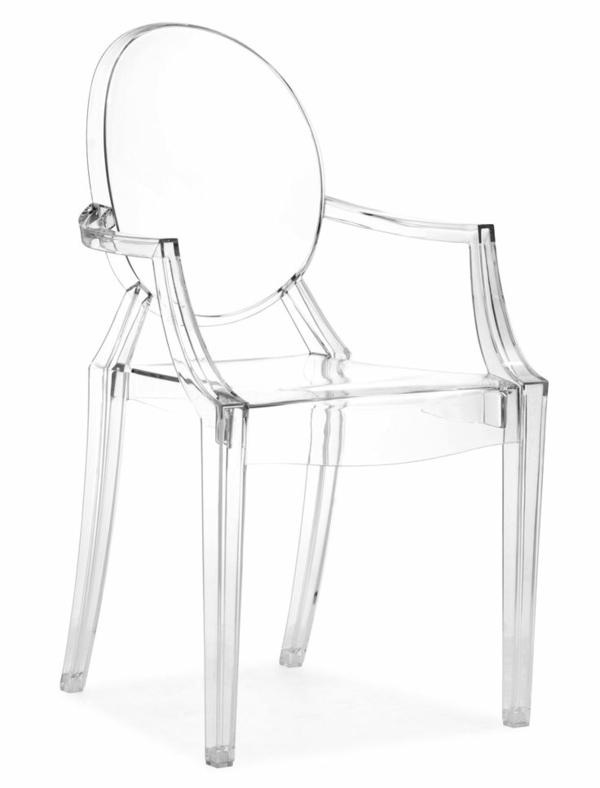 innendesign ideen transparente möbel acrylstühle Xandra Arm Chair