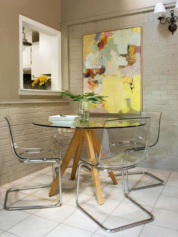 innendesign ideen transparente möbel aus glas esszimmer möbel