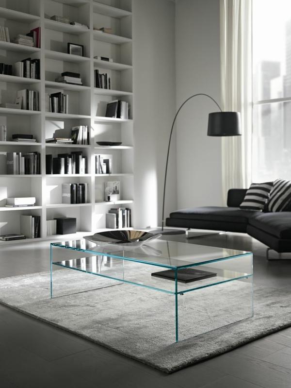 Innendesign ideen einrichtungsbeispiele und aktuelle for Couchtisch design glas
