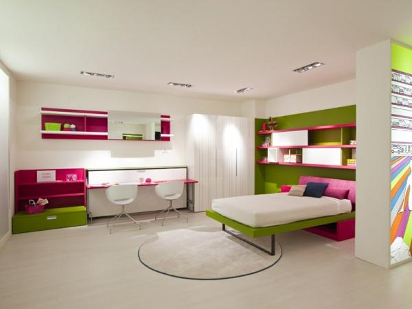 jugendzimmer einrichtung mobiliar runder teppich