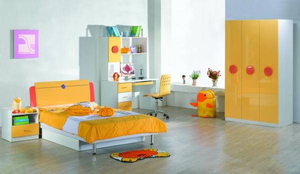 jugenszimmermobiliar jugendzimmer gelbe einrichtung deko