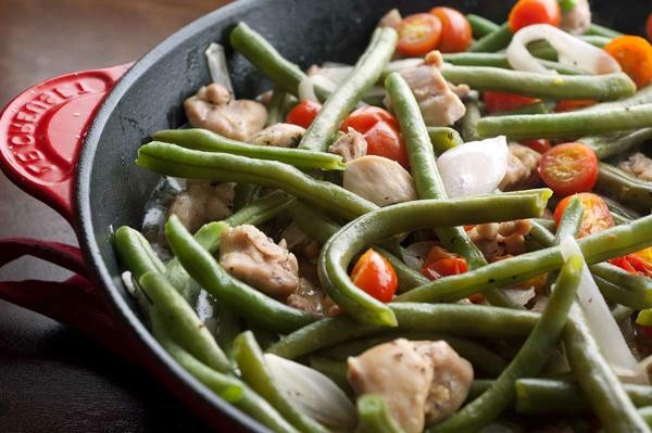 kalorienarm essen bohnen hähnchenfleisch