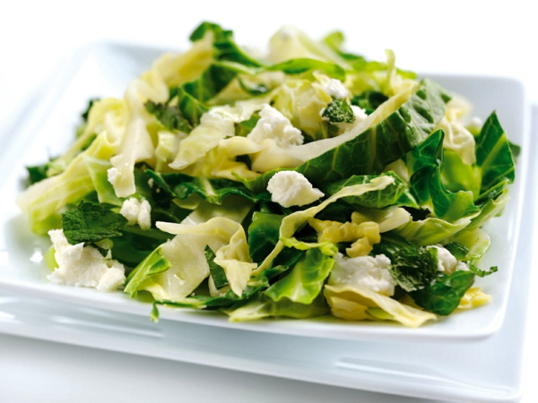 kalorienarm essen kohl salat feta käse