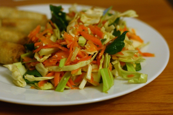 kalorienarmes essen kohlsalat möhren