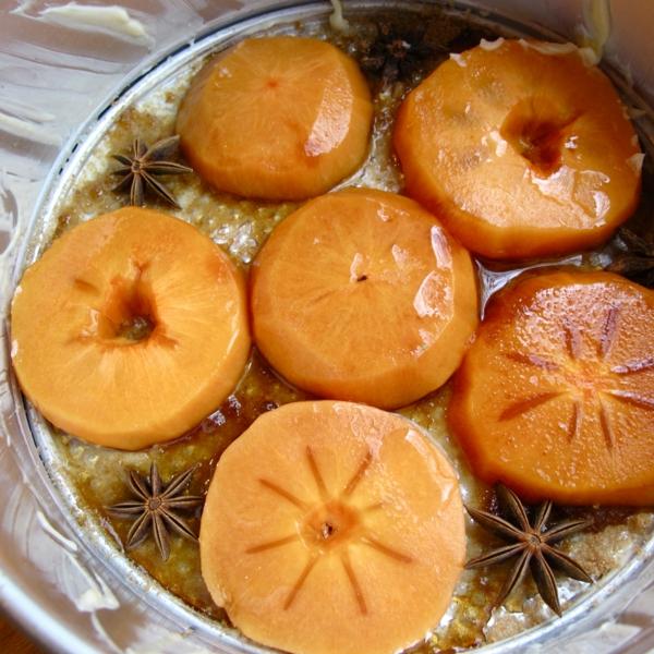 kalorienarm essen persimone nachtisch
