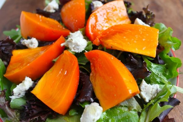 kalorienarmes essen persimone salat