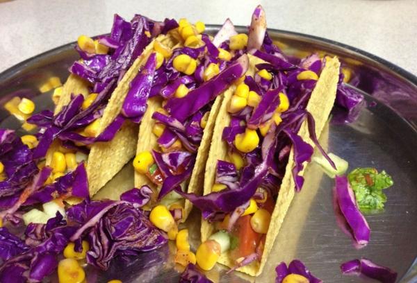 kalorienarm essen rotkohl tacos