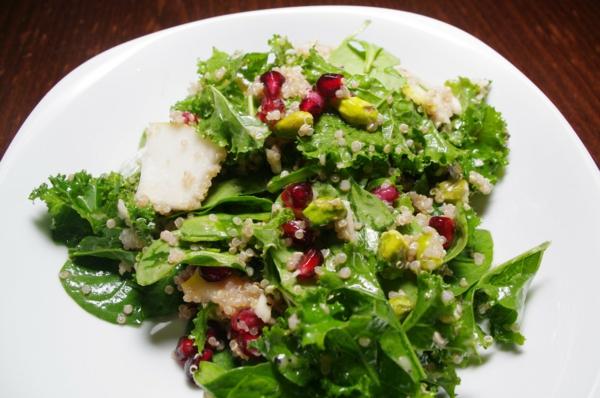 kalorienarm essen salat granatapfel
