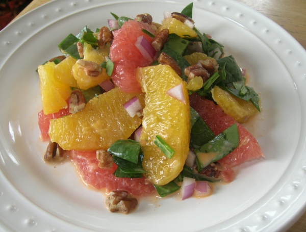 kalorienarmes essen zitrusfrüchte salat