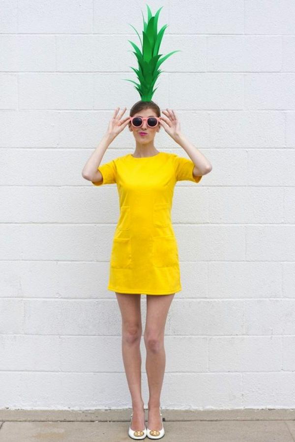 karneval kostüm selber machen ananas