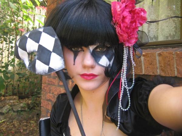 karneval kostüm selber machen domino frau
