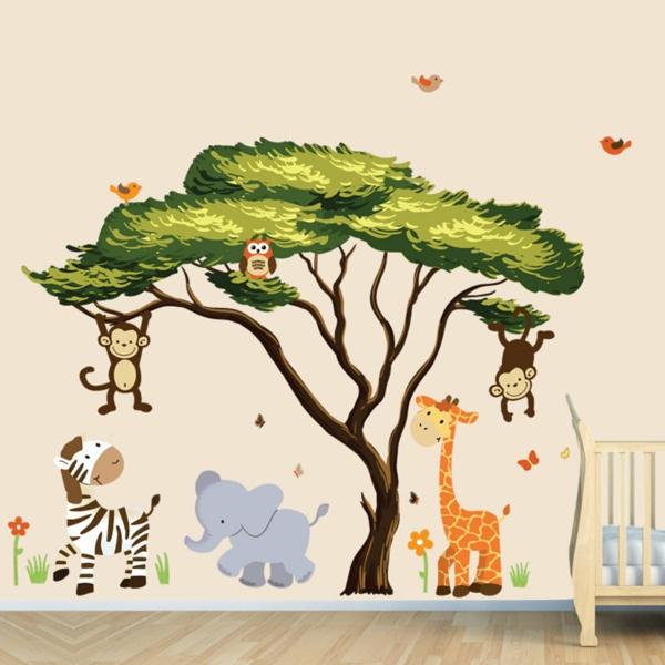 Kinderzimmer Gestalten Tiere Baby Baum Alles Bild Fur Ihr Haus Design