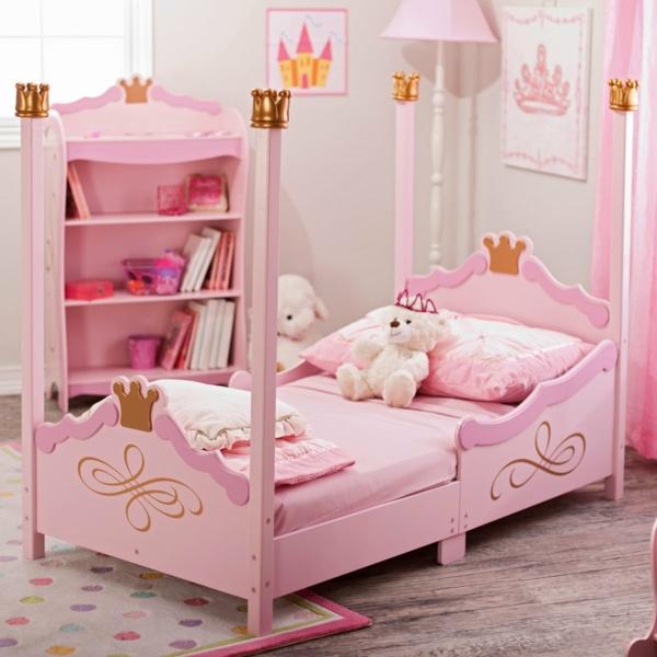 kinderzimmer mädchen rosa interieur offene wandregale