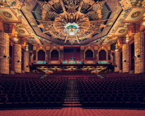 filmtheater weltweit modern kunst  braun deckengestaltung