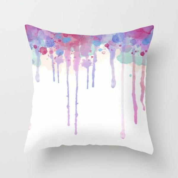 kissenbezüge basteln farben interessant kissen deko ombre lila