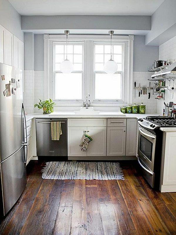 kleine küche rustikal gestalten design