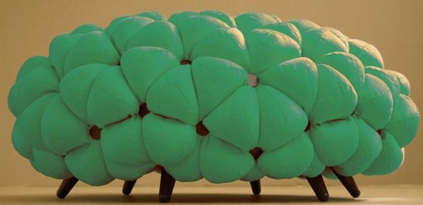 kleines sofa grün bälle