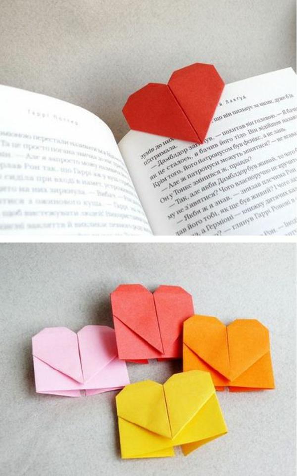 kreativitätstechniken kreative bastelideen lesezeichen papier falten