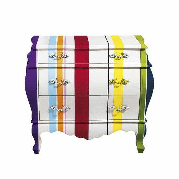 Möbel Bunt lackfarben für holz alte möbel lackieren