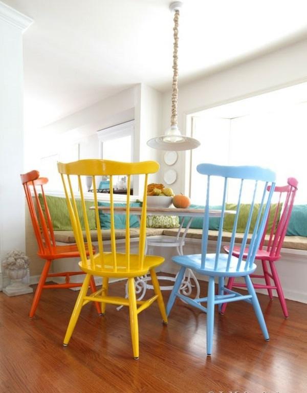 lackfarben für holz acryllack möbel bunt
