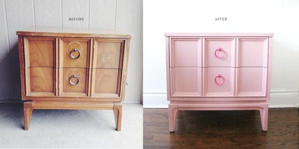 lackfarben für holz acryllack möbel rosa kommode