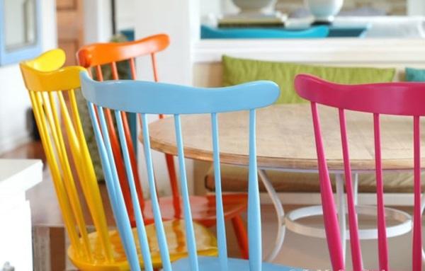 lackfarben für holz acryllack stühle esszimmermöbel