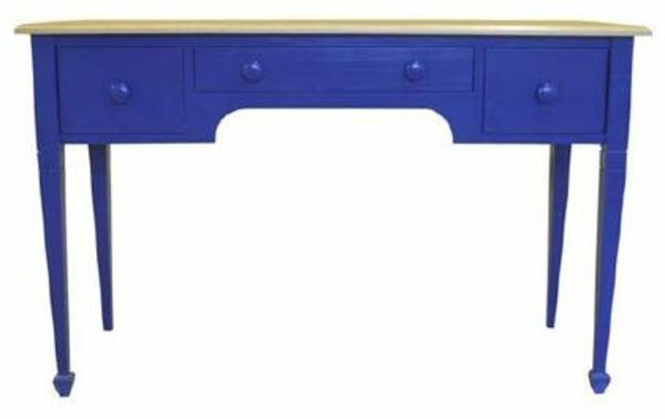lackfarben tisch schubladen blau holz möbel holzfarben