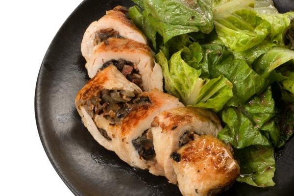 leichte gerichte hähnchen pilze salat