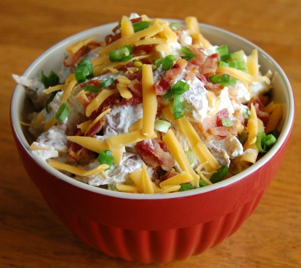 leichte gerichte kartoffelsalat käse schinken