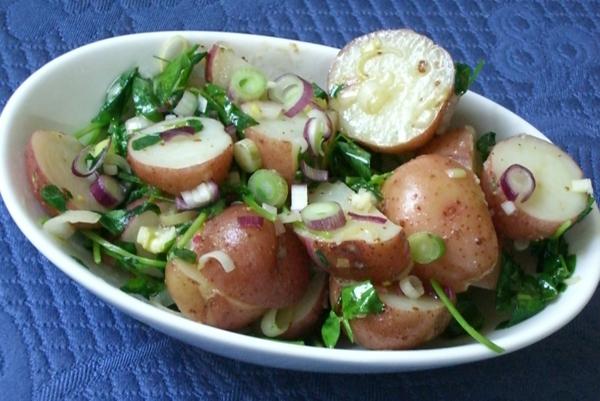 leichte gerichte kartoffelsalat lauchzwiebel